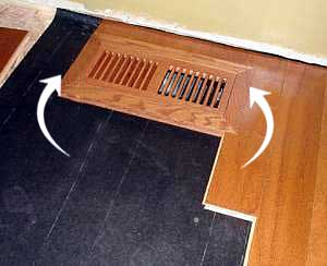 ... Installing Vent In Hardwood Floor
