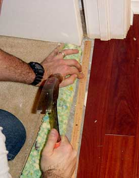 Installing Carpet Against Hardwood Floors Step By Step With Photos