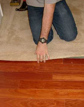 Installing Carpet Against Hardwood Floors - Step By Step With Photos