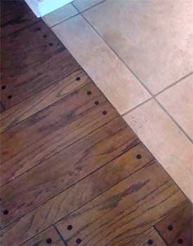 Installing Hardwood Against Tile Transition Without Moldings - Hardwood floor transition