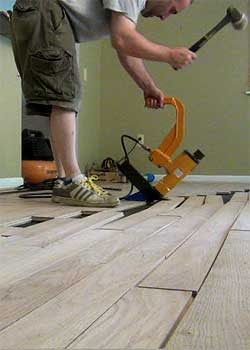 Installing Solid Hardwood Floors Fastening By Nails Or