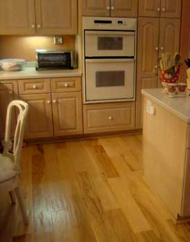 Kitchen with hand scraped floor