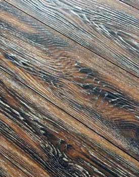 Embossed laminate floor