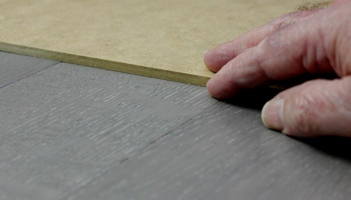 Masonite board used for floor protection