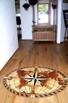 Hardwood Floor Inlays hardwood floor inlay hardwood stairs floor refinishing Hardwood Floor Medallions And Borders Graced Only The Hardwood Medallion Installed In Foyer