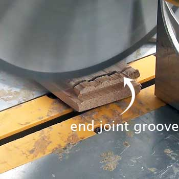remove end joint groove