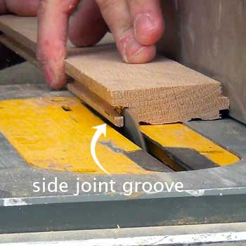 Remove side joint groove