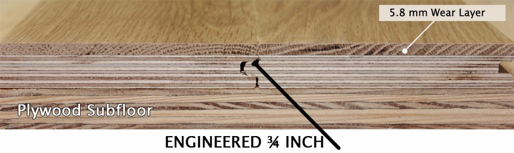 Our Thick 5 2mm Wear Layer Product Equals The Longevity Of Traditional Solid 3 4 Inch Hardwood Floors