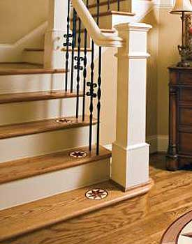 Small focal points on stairs
