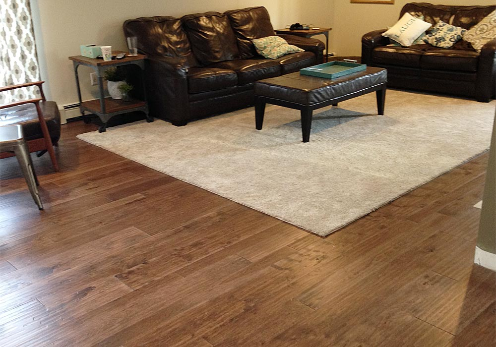 light brown Hickory hand scraped