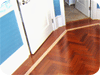 Wood floor borders