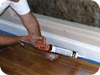 Caulk Gaps Under Baseboard