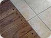 Hardwood Against Tile