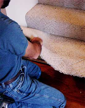 Remove carpet from steps