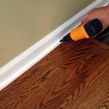 Hardwood floor quarter round home flooring ideas for Hardwood floors quarter round