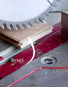 Bevel board to fit snug