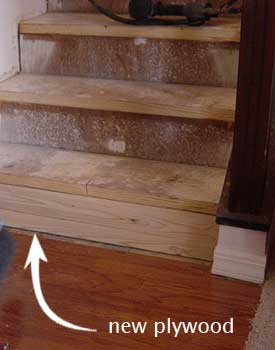 Installing Stair Nosing Risers On Steps