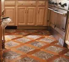Installing Tile & Wood Floors Together - Grid Patterns & Designs