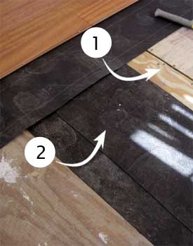 Shimming Low Spot On Wood Subfloor
