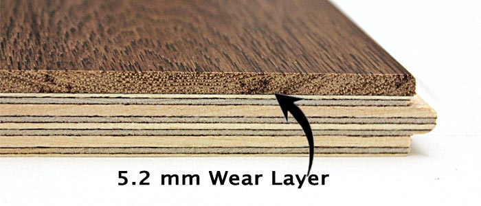 Thick wear layer engineered hardwood