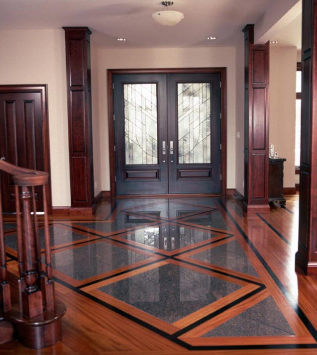 Hardwood Floor Designs basketweave tile and wood floor design pictures remodel decor and ideas Mixed Media Is A Wood And Tile Installed Together