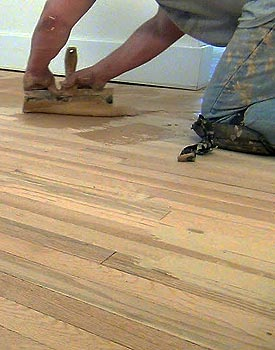 Hardwood Floor Wax hardwood floor wax Trowel Fill Cracks