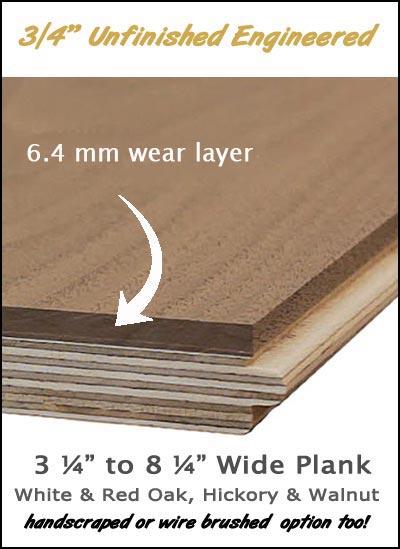 unfinished engineered plank