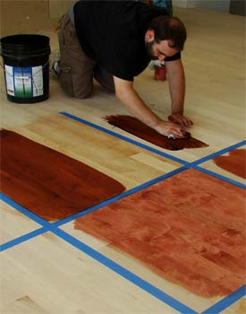 Choosing stain color